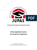 JUPAS Help System Applicant