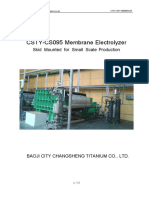 CS095 Membrane Electrolyzer