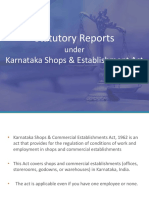 statutory reports as per karnataka shops establishment act-1