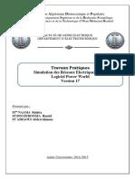 Travaux Pratiques Simulation des Réseaux Electriques par le Logiciel Power World Version 17