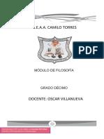 GUIA DECIMO FILOSOFIA OSCAR VILLANUEVA