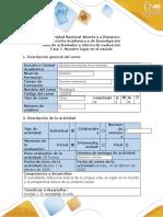 Guía de actividades y rúbrica de evaluación - Fase 1 - Nuestro lugar en el mundo