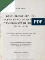 Descubrimiento del Nuevo Reino de Granada y fundación de Bogotá (1536-1539) Según documentos del Archivo General de Indias, Sevilla. (Revelaciones y rectificaciones).pdf