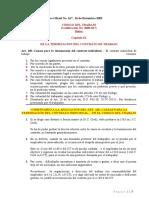 Código del Trabajo-Normativa para dar por terminada la Relación Laboral -Casos Enfermedad