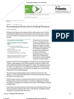42795768 Securitization Industry Set to Defend Practices WSJ
