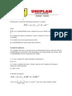 Lista de Exercícios - Distribuição Binomial