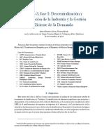 3. Fase I Descentralización y Digitalización de la Industria y la Gestión Eficiente de la Demanda
