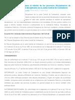INFORME JUNTA CENTRAL DE CONTADORES