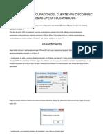manual instalacion de cliente VPN cisco