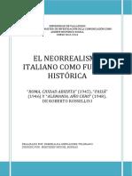 EL NEORREALISMO ITALIANO COMO FUENTE HISTÓRICA