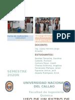 FILTRACION - Informe de PARTICULAS