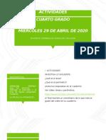 ACTIVIDADES 29 DE ABRIL DE 2020