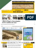 L_Alberto Regal_ el investigador de los caminos de Lima _ Lima _ Sociedad _ El Comercio Peru