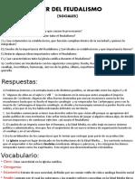 TELLER DEL FEUDALISMO (SOCIALES)