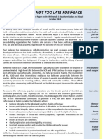 Pact Policy Paper on Sudan Referenda