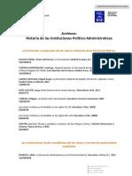 Bibliografia Historia de las instituciones politico administrativas