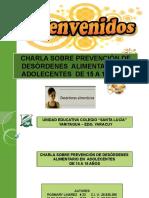 CHARLA DESORDENES ALIMENTARIOS