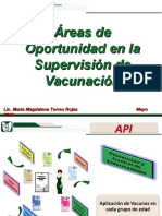 3.2 Áreas de Oportunidad en la Supervisión de Vacunación Ordinario