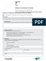 MUSIC - Application for registrAtion of A copyright in A Work - DA-CR-form1-eng