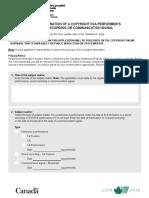 MUSIC - Application for a song recording copyright - DA-CR-form2-eng