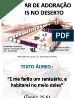 UM LUGAR DE ADORAÇÃO A DEUS NO DESERTO - Lição 9 - Tabernáculo.pdf