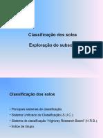 Solos - Cap 13 & 14 classificação de solos