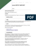 rg 4007-2017 ley 27260