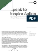 Speak to Inspire Action