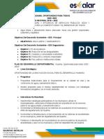 INDICADORES Y METAS 2020 -2023