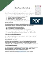 Step Away App Fact Sheet 2020