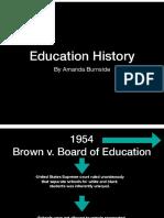 portfolio project 8  education history timeline