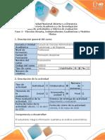 Guia de actividades y rúbrica de evaluación - Fase 4 - Elección Binaria, Independientes Cualitativas y Mixtos