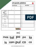 Construyo silabas compuestas