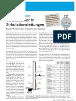 Wasserzaehler in Zirkulationsleitungen