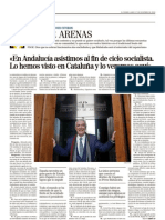 Entrevista a Javier Arenas El Mundo 27.12