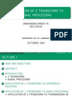 Application-of-Z-transform-to-Signal-Processing(presentation)