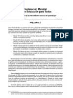 Declaracion Mundial Sobre Educacion