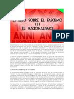 ESTUDIOS SOBRE EL FASCISMO (II). LAS COMPONENTES DEL FASCISMO EL NACIONALISMO