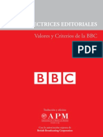 Directrices Editoriales. Valores y Criterios de la BBC (Libro de Estilo)
