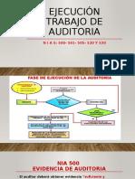 EJECUCIÓN TRABAJO DE AUDITORIA NIA 500-501-505-520 Y 530