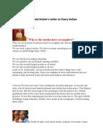 Abdul Kalam's Letter