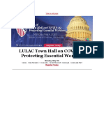 LULAC Mon May 4 Town Hall on COVID-19 Protecting Essential Workers