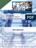 Formation of Company-I (Registration & Incorporation)