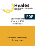 Scientific News 3rd of May 2020