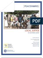 Local Justice in Southern Sudan
