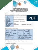 Guía de actividades y rúbrica de evaluación -  Fase 3 - Planifico mi Actividad Física