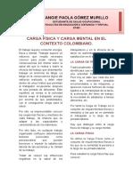 CARGA FÍSICA Y CARGA MENTAL EN EL CONTEXTO COLOMBIANO