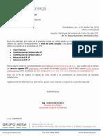 Oficio Solicitud Valores Corto Circuito CFE