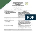 Portfolio Day Accomplishment Report
