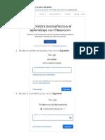 Manual Google Classroom - Docente